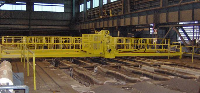 Passerelle mixte en usine